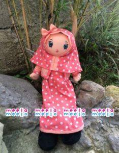 Produsen Boneka Muslimah Meela Meelo Orange