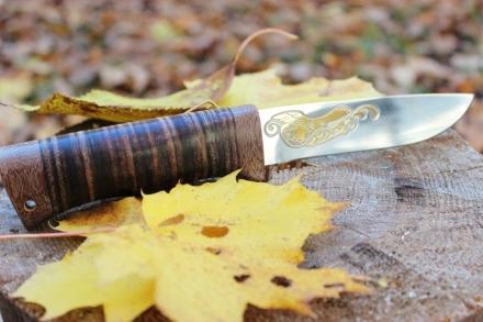 Rosyjski nóż myśliwski Zlatoust rękojeść