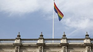 Prime Minister David Cameron tweeted his congratulations to couples and a rainbow flag was seen flying over the Cabinet Office in central London.