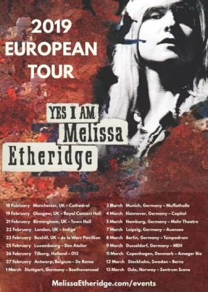 Melissa Etheridge tour 2019
