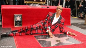 RuPaul at Hollywood Walk of Fame Star Ceremony