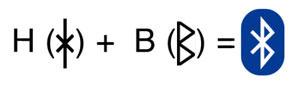 Bluetooth logoet er en kombination af to runer:Hagall og Bjarkan, Harald Blåtands initialer