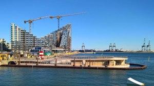 Havnebadet set fra Dorte Mandrups udsigtstårn ved bassin 7