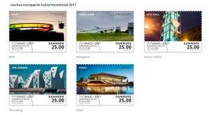 Kulturby 2017 frimærker