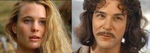 """Prinsessen og de skøre riddere (1987) """"The Princess Bride""""  Mandy Patinkin (Inigo Montoya) kendt fra Homeland -  Robin Wright (The Princess Bride) - kendt fra House of Cards"""