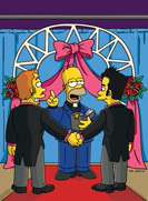 "When Homer discovers the monetary potential of performing gay unions, he becomes an ordained minister via the internet and soon marries everyone and anyone in town,– including a surprising someone very close to him (not pictured) on ""There's Something About Marrying"" episode of THE SIMPSONS Sunday, Feb. 20 (8:00-8:30 PM ET/PT) on FOX."
