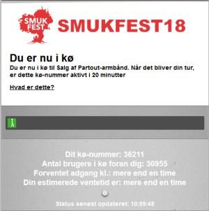 smukfest 2018 - Du er nu i kø til Salg af Partout-armbånd. Dit kø-nummer: 36211 Antal brugere i kø foran dig: 30207