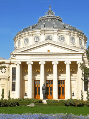bucharest-romania-april-05-2016-the-romanian-athenaeum-george-enescu-ateneul-roman-opened-in-1888-is-a-concert-hall-in-the-center-of-bucharest-and-a-landmark-of-the-romanian-capital-city_hizczsm7__F0000