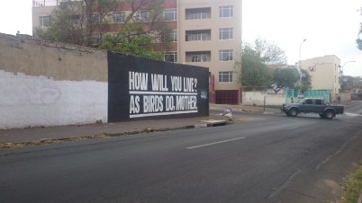 SHAKESPEARE: These quotes from the various plays that were written by William Shakespeare can be found pained on various walls around Yeoville. Photo: Rofhiwa Madzena