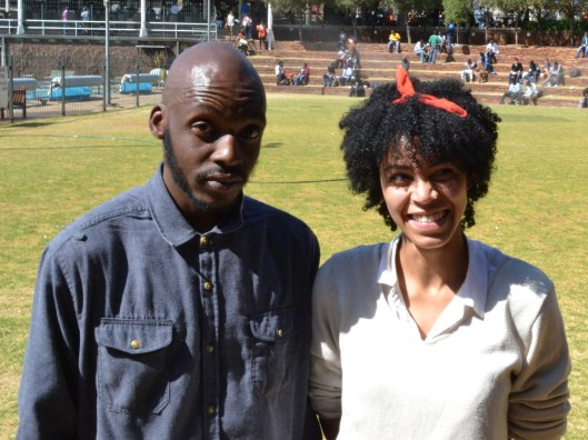 8 BARS SHORT: Pelonomi Moiloa and Itani Thalefi are a music duo who have their own band which they call Eight Bars short. They perform in local hang out spots in Braamfontein. The interview was conducted at Wits University's Amphi Theatre, East Campus. Photo: Rofhiwa Madzena