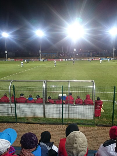 SPECTATING: I was sitting right in front of the Moroka Swallows team and they sat at the edge of their seats in anticipation of the final outcome of the game. The blistering weather did not help their anticipation. Photo: Rofhiwa Madzena