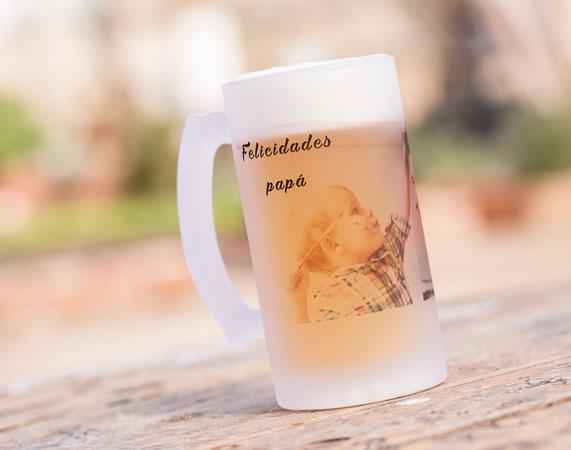 Jarra De Cerveza De Vidrio Esmerilado Personalizada