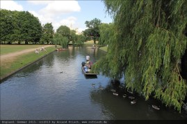 Gondolieri auf dem River Cam