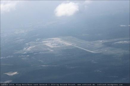 Blick zurück auf den Flughafen