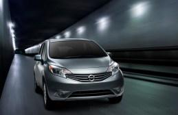 2013 Nissan Note (Versa Note in USA), three quarter, running shot (studio) in tunnel photo scene