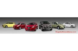 2013 Suzuki lineup for Mexican market: SX-4 Crossover X-Over, SX-4 sedan, Grand Vitara, Kizashi, Swift, Swift Sport. Advertising studio shooting (composite from multiple shots)
