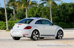2012 VW Beetle, three quarter rear beauty, Mexican press launch, Riviera Maya, Quintana Roo, Mexico