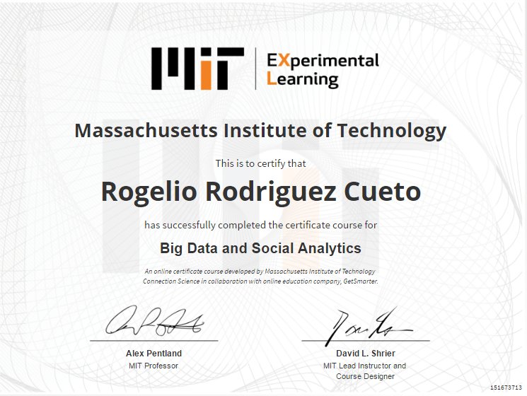 Mit Big Data And Social Analytics My Map Of Things