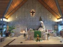 Altar lit up.