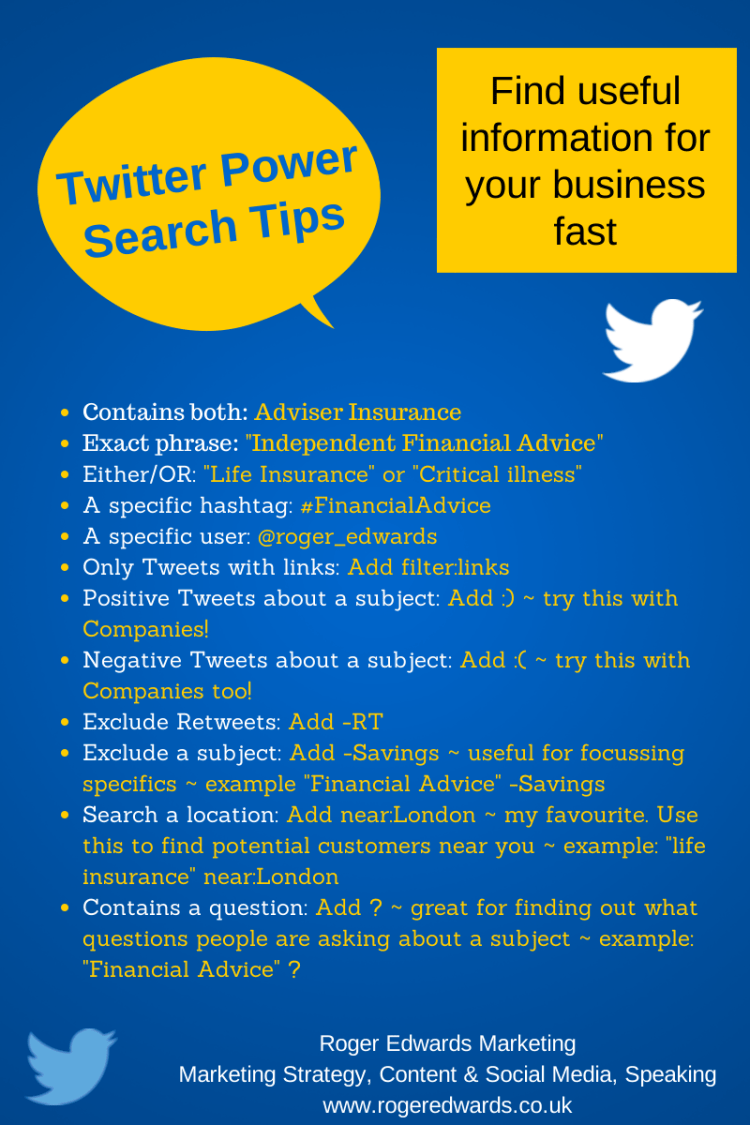 Twitter Search Tips
