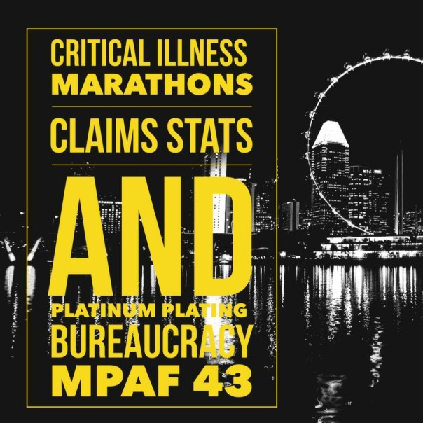 Critical Illness Marathons Claims Stats and Platinum Plating Bureaucracy