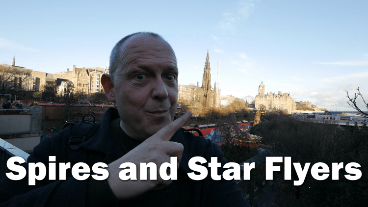 Scott Monument Spires and Star Flyers
