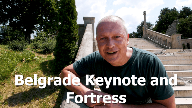 Belgrade Keynote Speech and exploring the City and the Fortress - RogVLOG27