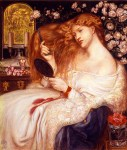 Lady Lilith by Dante Gabriel Rossetti of the Pre-Raphaelite Brotherhood