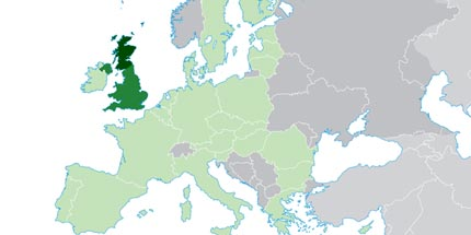 The UK  the EU s largest export market   Roger Helmer MEP eu map uk highlighted
