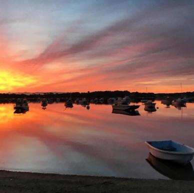 Sunrise Boats Orange Burst
