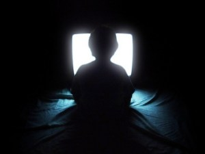 child watching television image