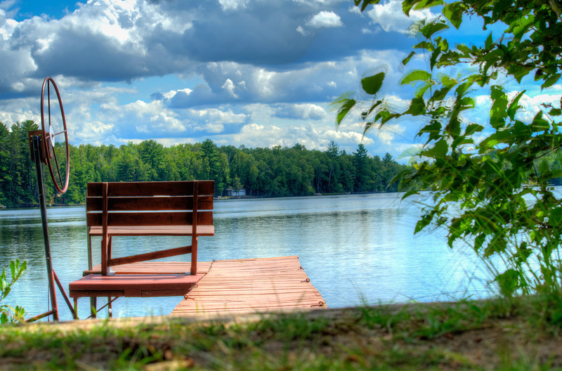 Image of a dock in the summertime