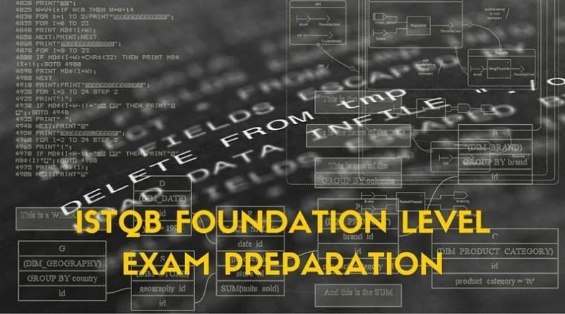 ISTQB FOUNDATION LEVEL EXAM PREPARATION