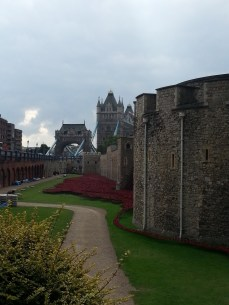 Along the eastern edge of the Tower of London