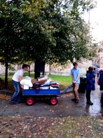 Blue bin (for moving into the dorms), Cambridge edition