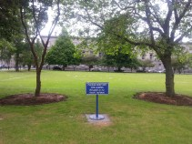 Keep off the grass at Trinity College