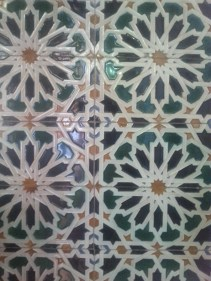 Tile work in the train station. I may not have formal education in art, but appreciating the tile work has become one of my favorite ways to explore a new city. This is just one of many photos I collected in Spain.