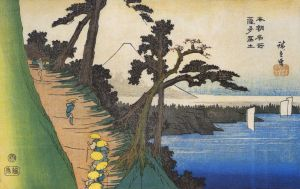 800px-Hiroshige_Travellers_on_a_mountain_path_along_the_coast