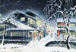 Japanese woodcut, postcard img382