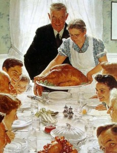 Norman Rockwell, Thanksgiving (from the 'Freedom from Want' series)