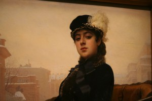 Russian lady, painting of, Gugenheim Museum, Patice photo 11-23-2005