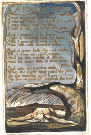 """""""A Poison Tree""""; etching by William Blake"""