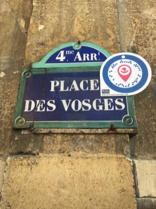 sign, Maison de Victor Hugo, Place des Vosges