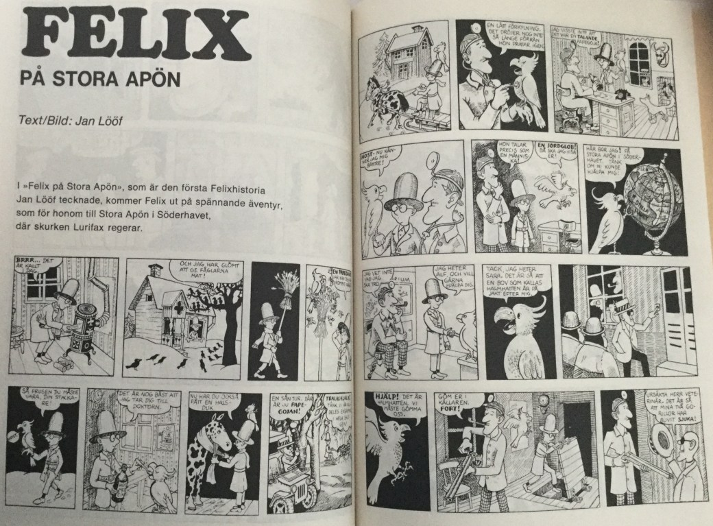 Felix på stora apön, Carlsen Comics