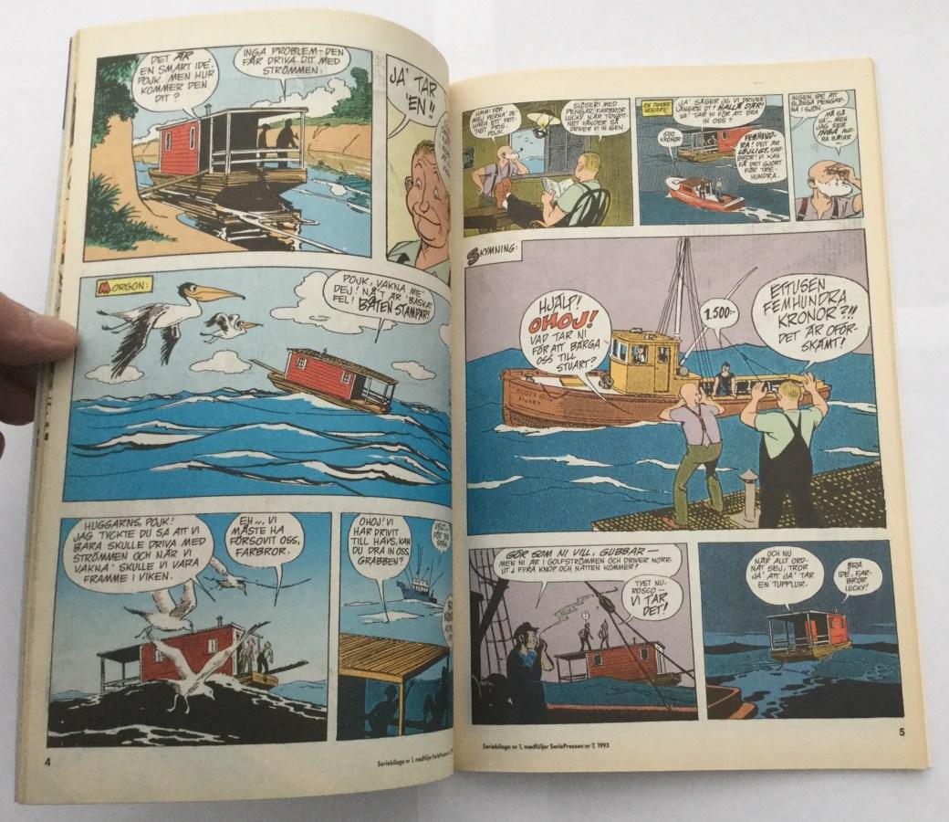 Roscoe Sweeney i Buz Sawyer, i Seriepressen nr 7, 1993