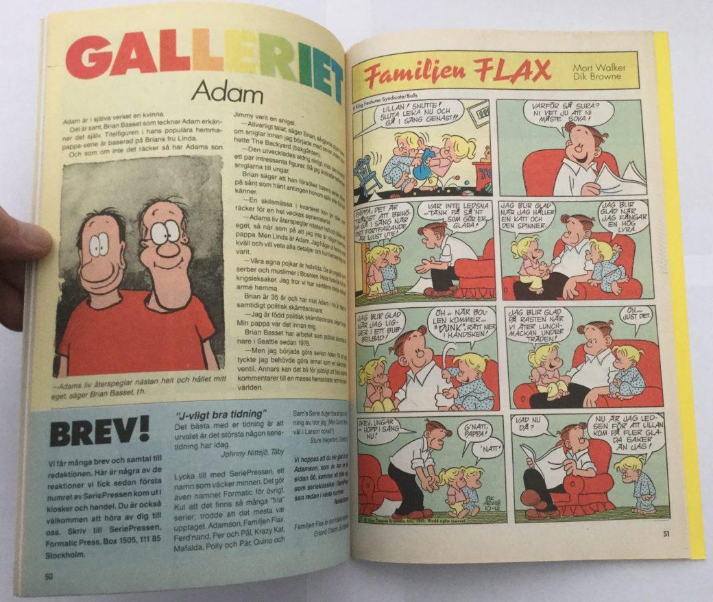 Familjen Flax i Seriepressen nr 4, 1993