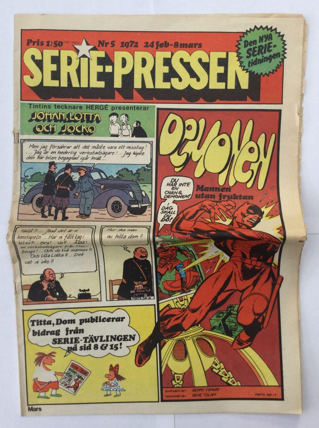 Serie-Pressen nr 5, 1972 i tabloidformat