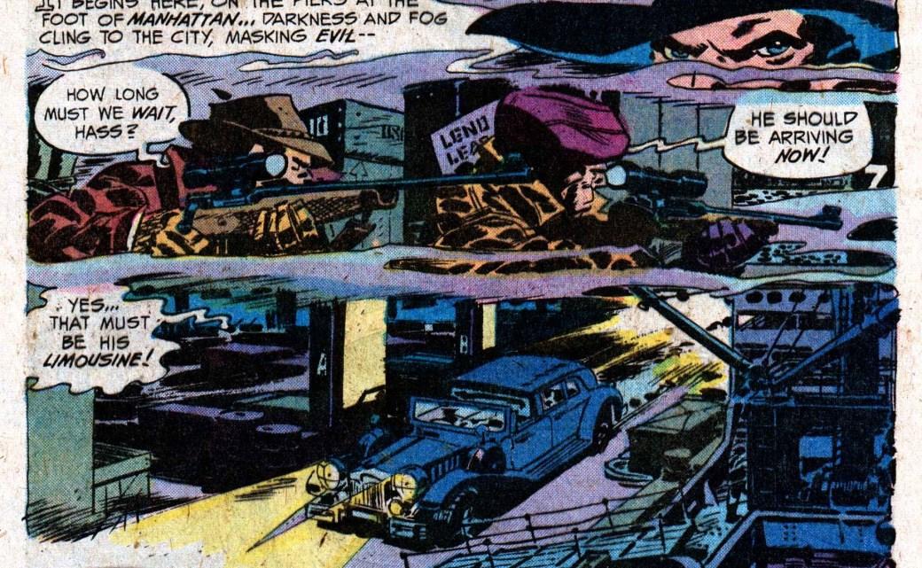 Robbins illustrerade också några av sina serier som t.ex. detta äventyr med The Shadow