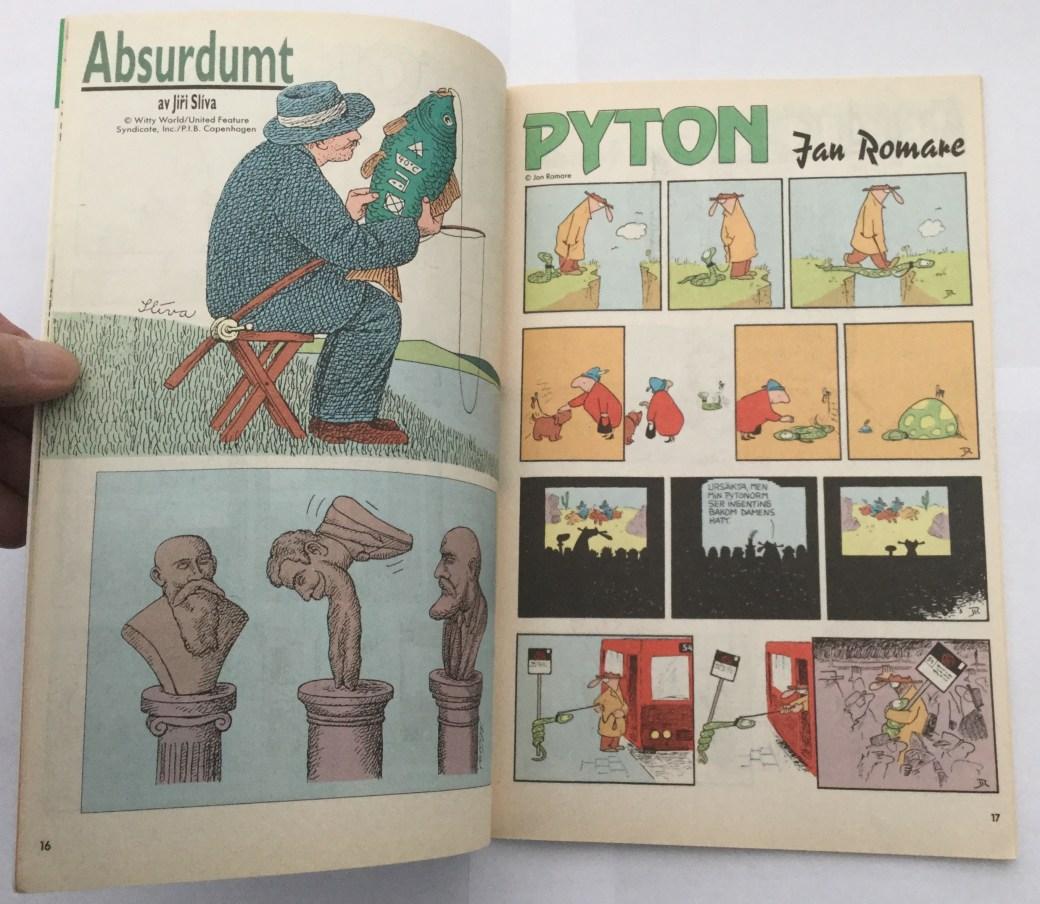Pyton i Seriepressen nr 8, 1993