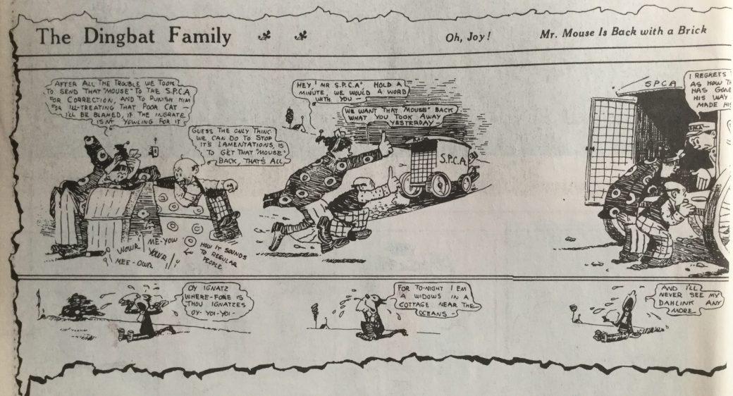 """Krazy Kat-serien började som en """"extra-serie"""" under The Dingbat Family, även kallad The Family Upstairs. ©KFS"""